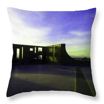 Throw Pillow featuring the photograph Denver Art Museum Deck 1 by Marilyn Hunt