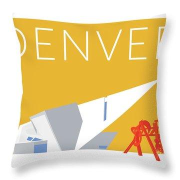 Denver Art Museum/gold Throw Pillow