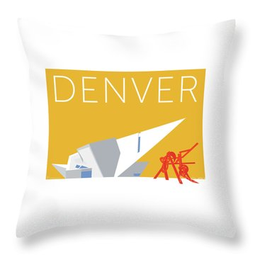 Denver Art Museum/gold Throw Pillow