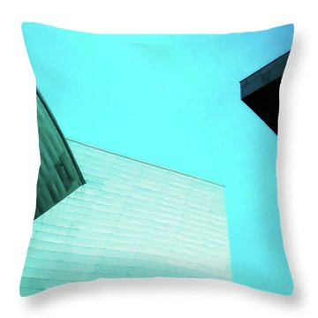 Throw Pillow featuring the photograph Denver Art Museum Hamilton by Marilyn Hunt