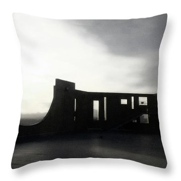 Throw Pillow featuring the photograph Denver Art Museum Ponti 2 by Marilyn Hunt