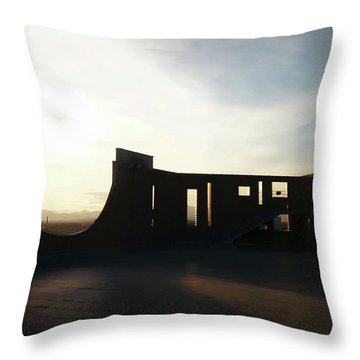 Throw Pillow featuring the photograph Denver Art Museum Ponti Deck by Marilyn Hunt
