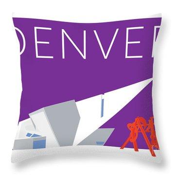 Denver Art Museum/purple Throw Pillow