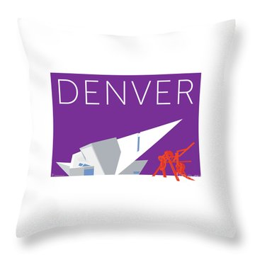 Denver Art Museum/purple Throw Pillow