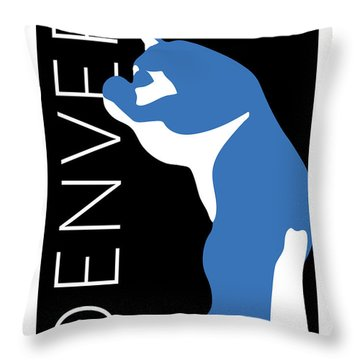 Denver Blue Bear/black Throw Pillow