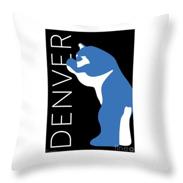 Denver Blue Bear/black Throw Pillow