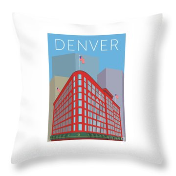 Denver Brown Palace/blue Throw Pillow