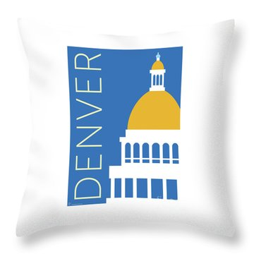Denver Capitol/blue Throw Pillow