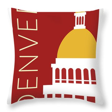 Denver Capitol/maroon Throw Pillow