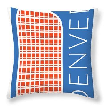 Denver Cash Register Bldg/blue Throw Pillow
