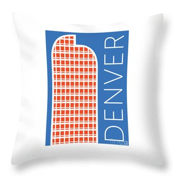 Denver Cash Register Bldg/blue Throw Pillow