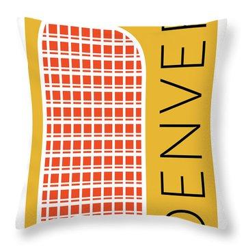 Denver Cash Register Bldg/gold Throw Pillow