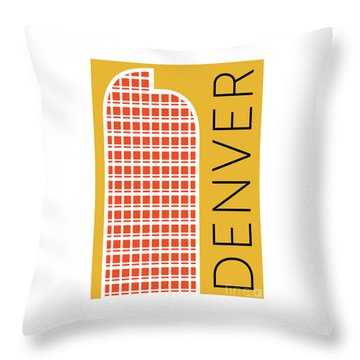 Denver Cash Register Bldg/gold Throw Pillow