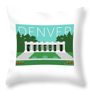 Denver Cheesman Park/lt Blue Throw Pillow