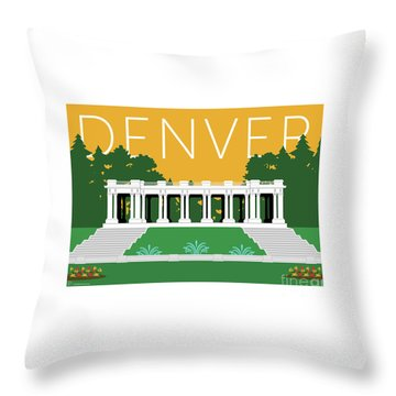 Denver Cheesman Park/gold Throw Pillow