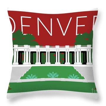 Denver Cheesman Park/maroon Throw Pillow
