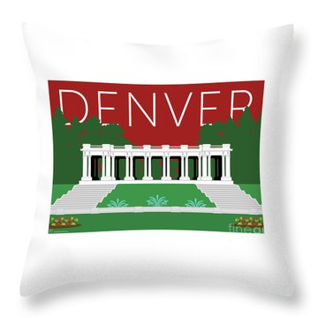Denver Cheesman Park/maroon Throw Pillow