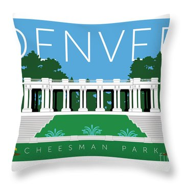 Denver Cheesman Park Throw Pillow