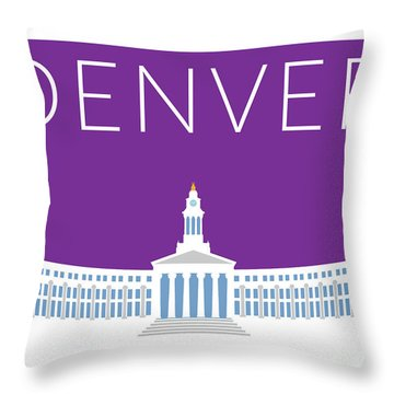 Denver City And County Bldg/purple Throw Pillow