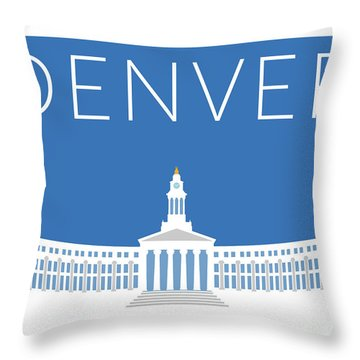 Denver City And County Bldg/blue Throw Pillow