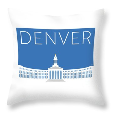 Denver City And County Bldg/blue Throw Pillow