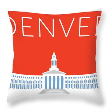 Denver City And County Bldg/orange Throw Pillow