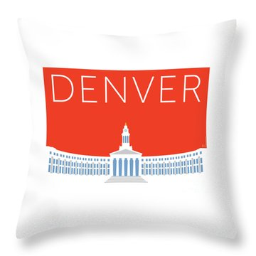 Denver City And County Bldg/orange Throw Pillow