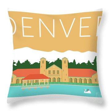 Denver City Park/adobe Throw Pillow
