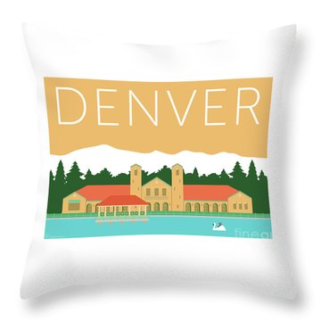 Denver City Park/adobe Throw Pillow