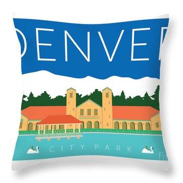 Denver City Park Throw Pillow