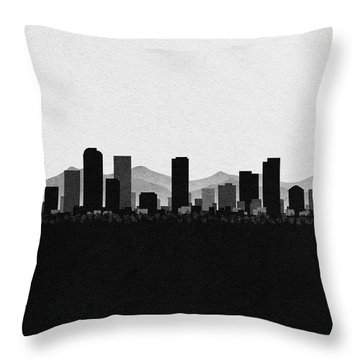 Denver Cityscape Art Throw Pillow