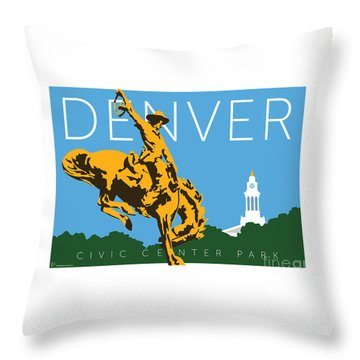 Denver Civic Center Park Throw Pillow