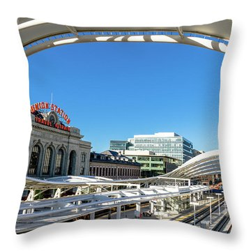 Denver Co Union Station Throw Pillow