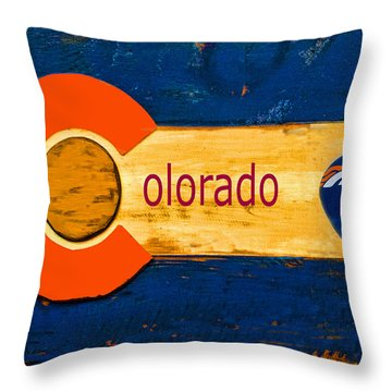 Denver Colorado Broncos 1 Throw Pillow