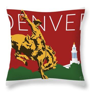 Denver Cowboy/maroon Throw Pillow