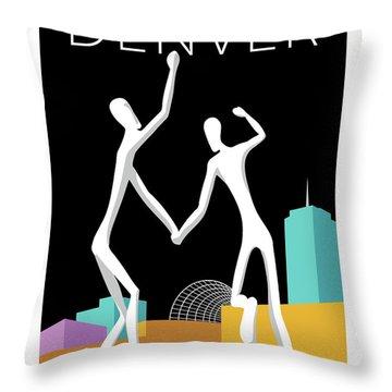 Denver Dancers/black Throw Pillow