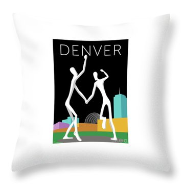 Denver Dancers/black Throw Pillow