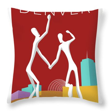 Denver Dancers/maroon Throw Pillow