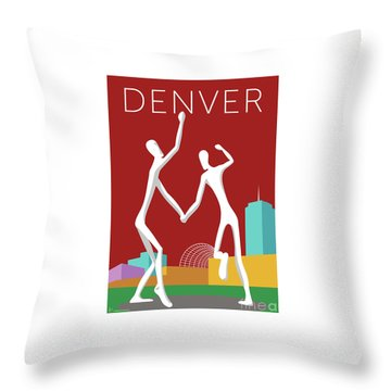 Denver Dancers/maroon Throw Pillow