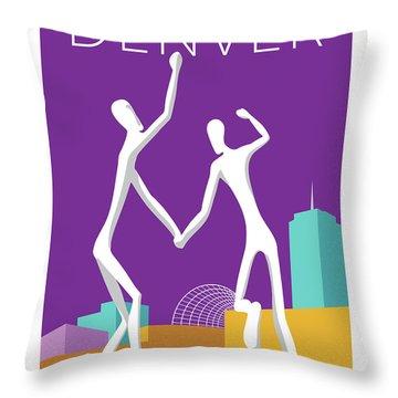 Denver Dancers/purple Throw Pillow