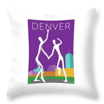 Denver Dancers/purple Throw Pillow