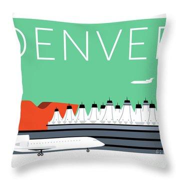 Denver Dia/aqua Throw Pillow