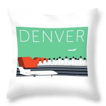 Denver Dia/aqua Throw Pillow