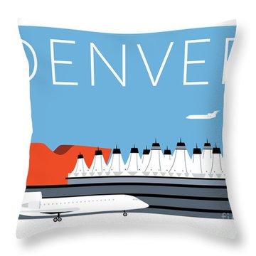 Denver Dia/blue Throw Pillow