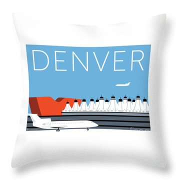 Denver Dia/blue Throw Pillow