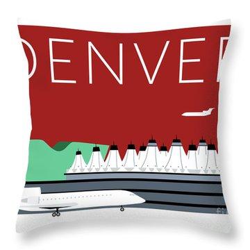 Denver Dia/maroon Throw Pillow