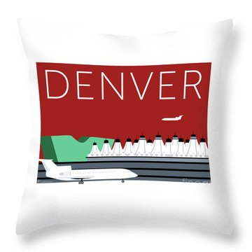 Denver Dia/maroon Throw Pillow