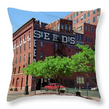 Throw Pillow featuring the photograph Denver Downtown Warehouse by Frank Romeo