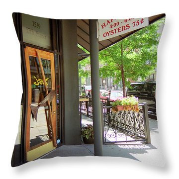 Throw Pillow featuring the photograph Denver Happy Hour by Frank Romeo
