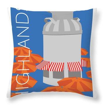 Denver Highlands/blue Throw Pillow